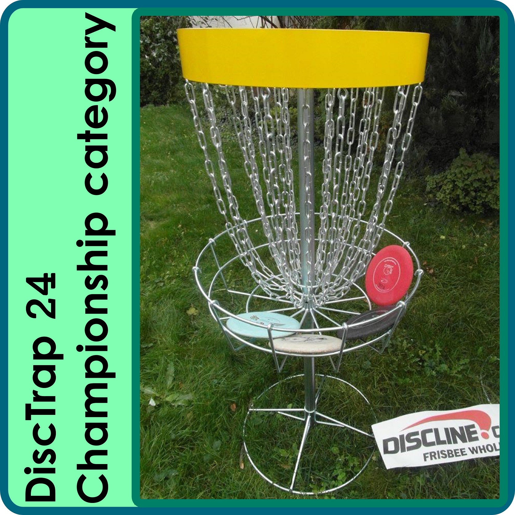 portable discgolf basket